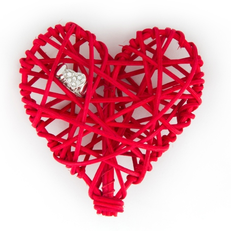 Heart Ring in a Woven Heart