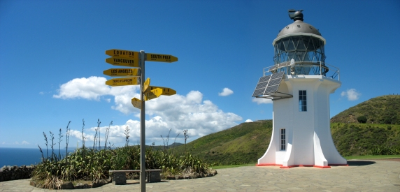The Lighthouse and signpost at Cape Reinga