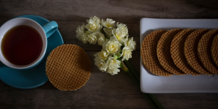 Stroopwafels with Tea