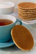 Dutch Waffles (Stroop Wafels) with a Cup of Tea