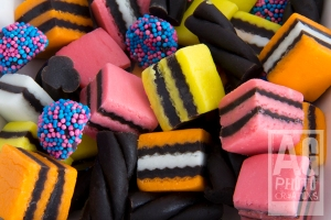 Licorice Allsorts close up