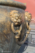 Close Up of the Fire Pot in the Forbidden City, Beijing China